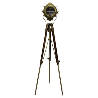 Urban Designs 82-Inch Gold Round Cinema Studio Spotlight Floor Tripod Lamp