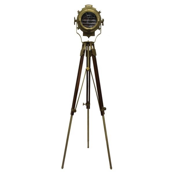 Urban Designs 82 Inch Gold Round Cinema Studio Spotlight Floor Tripod Lamp