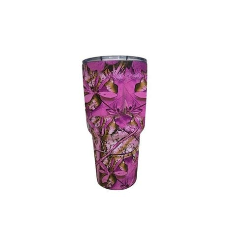 Stainless Steel INSULATED HOT OR COLD RAMBLER TUMBLER W/ LID