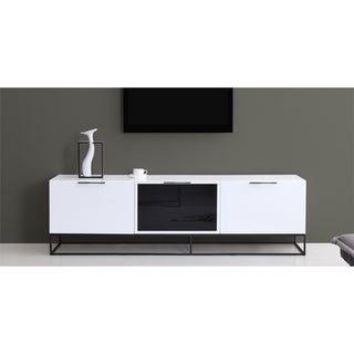 VIZZIONE II High Gloss White Lacquer Entertainment Center by Casabianca Home