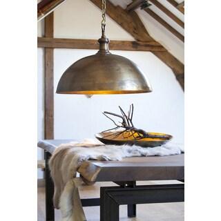 Urban Designs Andora Rustic Scandinavian Style Solid Bronze Hanging Lamp
