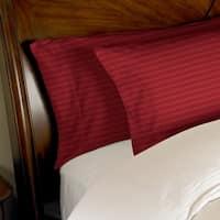 Kotter Home 650 Thread Count Striped Cotton Pillowcase Set