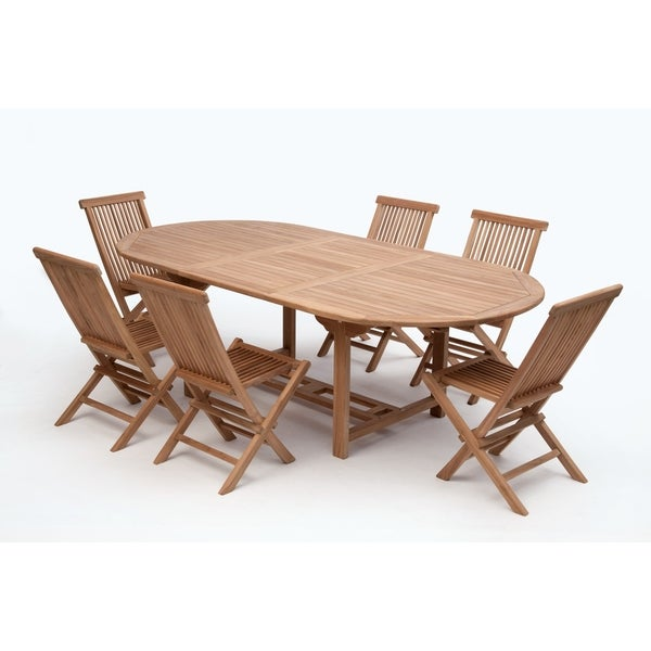 Shop Bali Oval Extending Collection Teak On Sale Free Shipping - Teak oval extending table