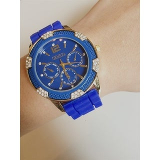 Olivia Pratt Women's Casual Silicone Watch (Option: ROYAL BLUE)