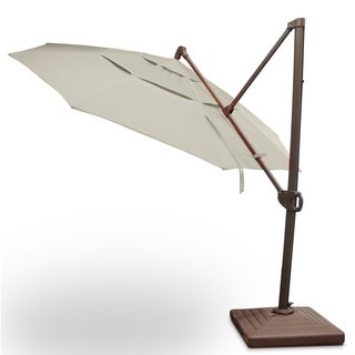 Calais 11' Cantilever Parasol Umbrella with Sunbrella Fabric