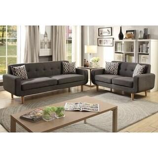 Dobele Loveseat and Sofa Upholstered in Dorris Fabric