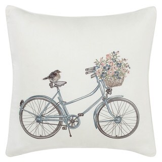 Laura Ashley Bicycle 20-inch Throw Pillow