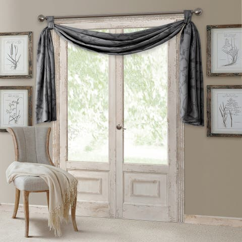 "Elrene Darla Blackout Window Scarf Valance - 52"" w x 144"" l"