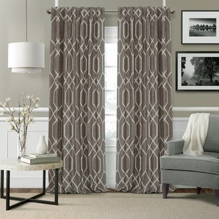 Elrene Devin Geometric Room Darkening Curtains