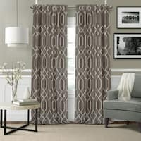 Elrene Devin Geometric Room Darkening Curtains