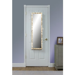Birch Over the Door Jewelry Armoire Mirror