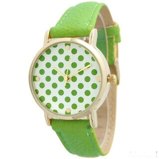 Olivia Pratt Women's Polka Dot Leather Strap Band (3 options available)