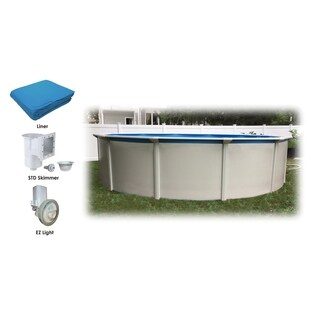 "Bali 24' Round 52"" Steel Wall Above Ground Pool Starters Package"