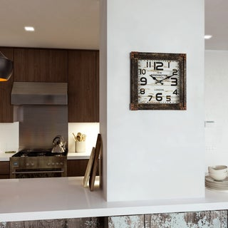 "Yosemite Home Décor ""Time Track"" Wall Clock"