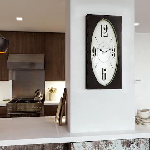 """Yosemite Home Decor """"Speakeasy Spokes"""" Wall Clock"""