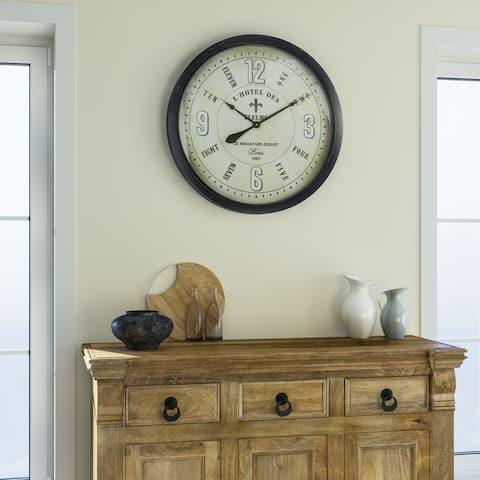 """Yosemite Home Decor """"Fleur Village"""" Wall Clock"""