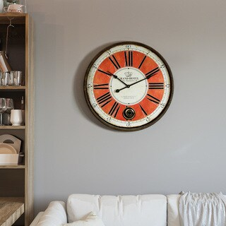 """Yosemite Home Décor """"Grand Crowned"""" Wall Clock"""