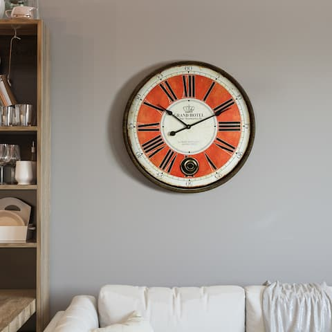"Yosemite Home Decor ""Grand Crowned"" Wall Clock"