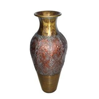 """29.75"""" Gold/Copper Metal Vase"""