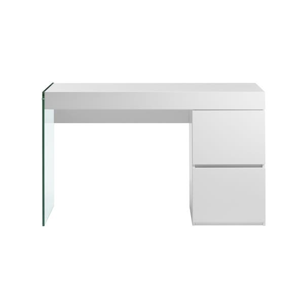 High Gloss White Lacquer Office Desk