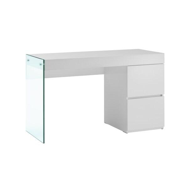 IL VETRO High Gloss White Lacquer Office Desk By Casab.
