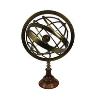Urban Designs 20-Inch Brass Tabletop Armillary Nautical Sphere Globe
