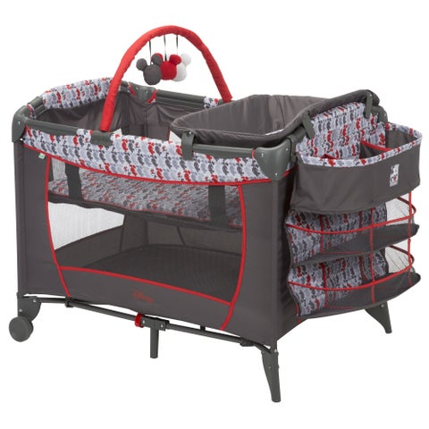 Disney Baby Sweet Wonder Play Yard in Mickey Line Up with Storage