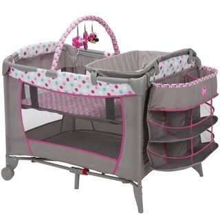 Disney Baby Sweet Wonder Play Yard in Minnie Dot Fun with Storage