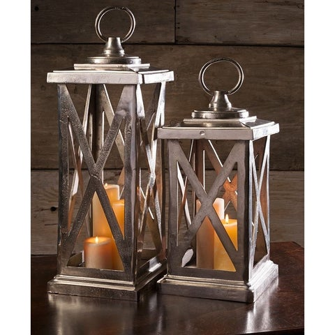 Urban Designs 30-Inch Heavyweight Aluminum Cast Candle Holder Lantern