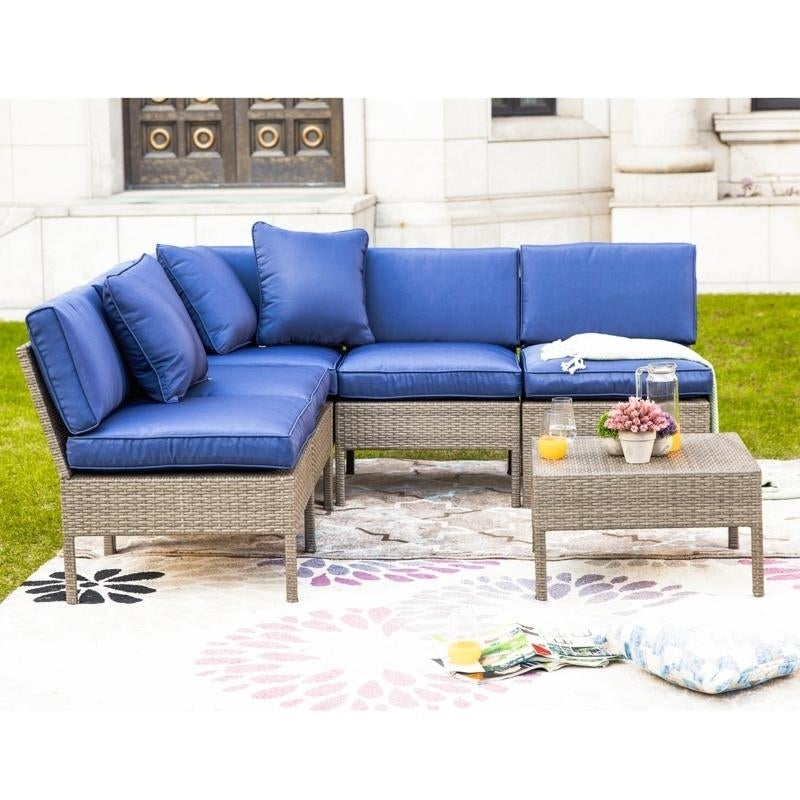 6 Piece Outdoor Sectional Sofa