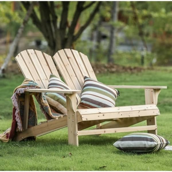 Wooden Double Adirondack Chair Sofa