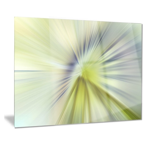 Designart \'Rays of Speed Green Purple\' Abstract Digital Metal Wall ...