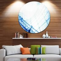 Designart '3D Abstract Art Blue Pattern' Abstract Digital Art Disc Metal Wall Art