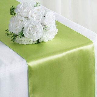 Satin Table Runner Wedding Party Banquet Apple Green 12 x 108