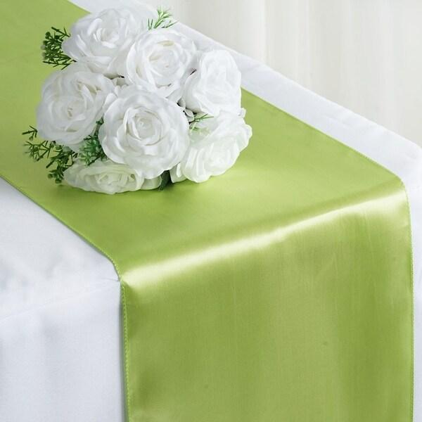 Beau Satin Table Runner Wedding Party Banquet Apple Green 12 X 108
