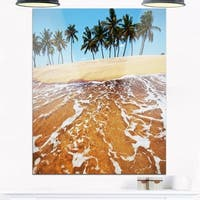 Tropical Beach with Crystal Waters - Large Seashore Glossy Metal Wall Art
