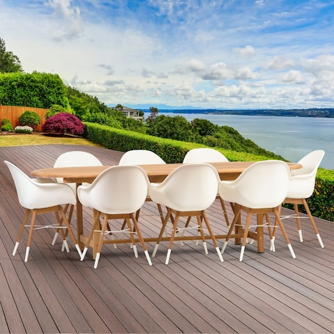 Amazonia Hawaii Deluxe 9-Piece Oval Patio Dining Set