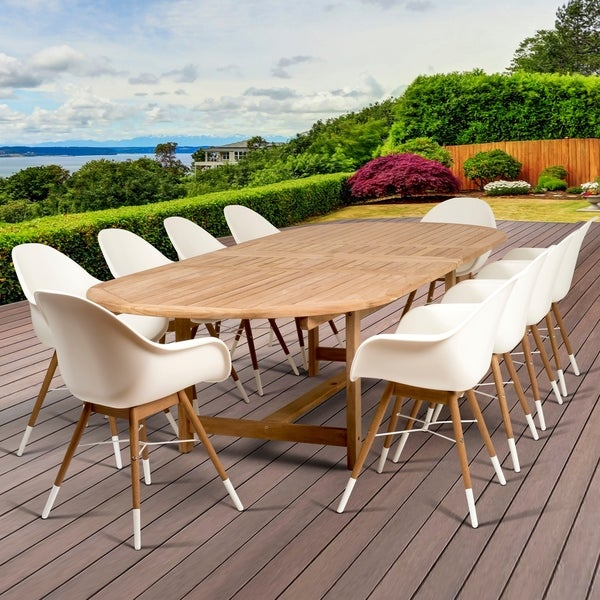 Amazonia Hawaii Deluxe 11-Piece Double Extendable Rectangular Patio Dining Set. Opens flyout.