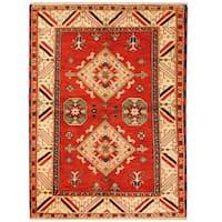 Handmade Herat Oriental Indo Hand-knotted Tribal Kazak Wool Rug (4'8 x 6'7) - 4'8 x 6'7