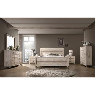 king bedroom sets. Interesting Sets Imerland Contemporary White Wash Finish 6Piece Bedroom Set King For Sets