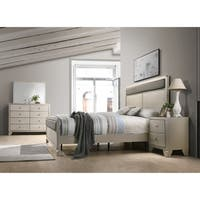 Silver Orchid Carew Contemporary Champagne Silver Wood 4-piece Bedroom Set, King