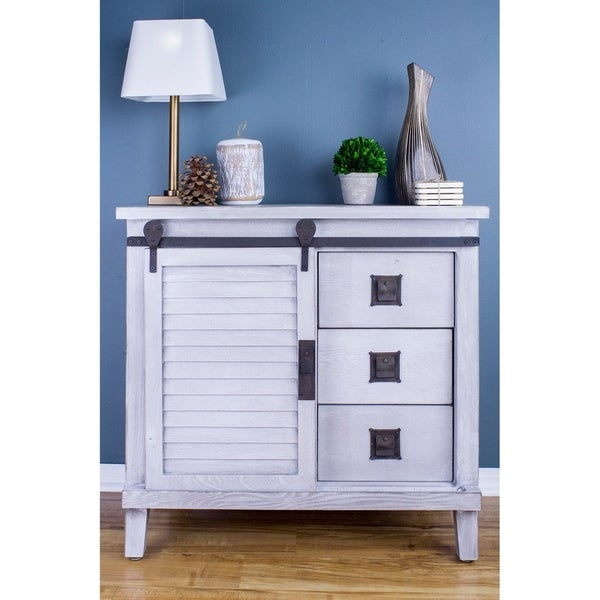 Charmant Southport Grey Wood And Metal Accent Farmhouse Cabinet