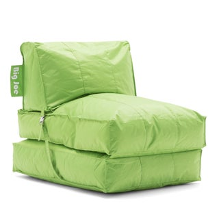 Big Joe Flip Lounger Bean Bag Chair (Option: Fabric - Green - Polystyrene Beads)
