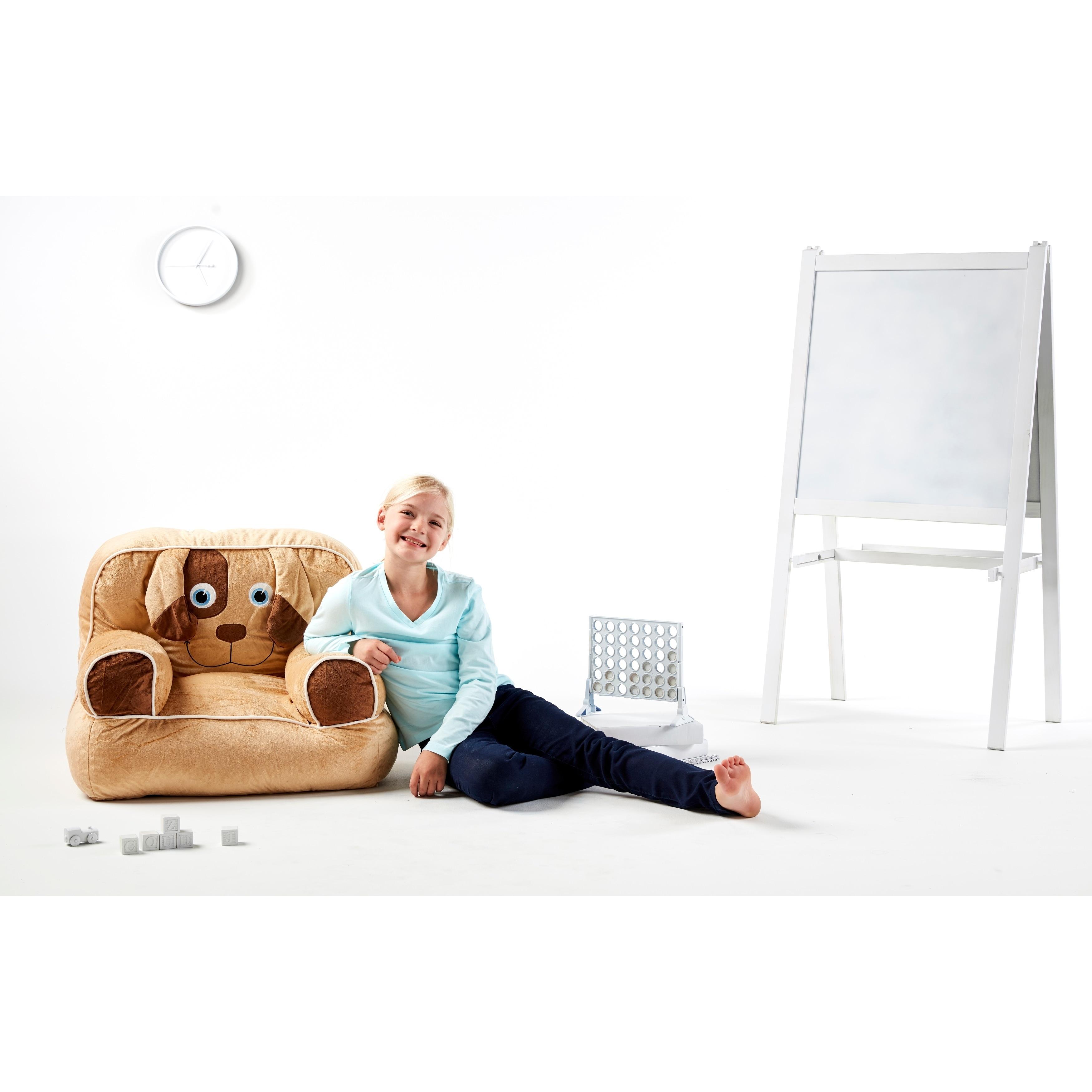 Big Joe Kid S Bagimal Throne Bean Bag Chair Dog Ebay