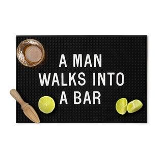 Man Walks Into A Bar Mat
