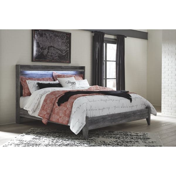 buy popular 6ec85 78fc5 Shop Baystorm Smokey Grey Panel Bed - On Sale - Free ...