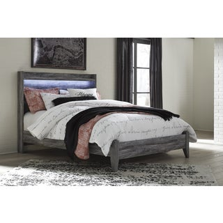 Baystorm Smokey Grey Panel Bed