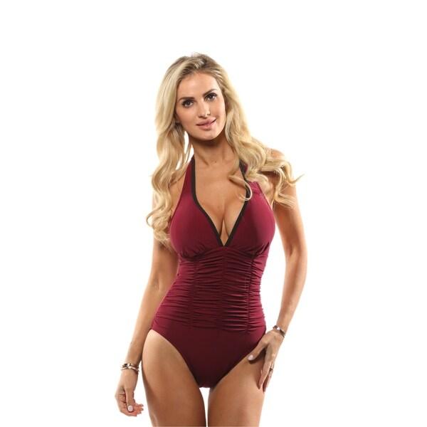 b6497faee8 Shop Magicsuit Women's Solid Kara Tummy Control One Piece Swimsuit ...