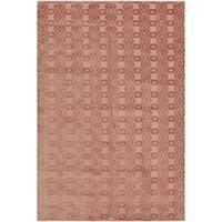 Loom Arya Alvar Rose/Rose Silk Rug (10'3 x 13'7) - 10' x 14'