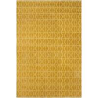 Moroccan Arya Alizee Gold/Gold Silk Rug (8'3 x 11'0) - 8' x 11'